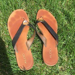 Used Aldo flip flops size 11